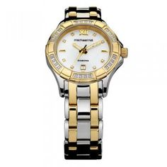 Ladies Watch with Diamonds & Mother of Pearl in Silver & Gold Tone…