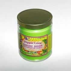 Hippie Love Smoke Odor Candle $11.99  Hippie Love is a soft, clean, slightly fruit scent. Smoke Odor Exterminator Hippie Love Candles are great for cigars, cigarettes, and pipes. Enzyme formulated candle, attacks and removes smoke odors when burning. Each candle weighs 13 oz. and will burn for approximately 70 hours.These fragrant candles make wonderful gifts even for non-smokers! Smoke Odor candles are made in the USA!