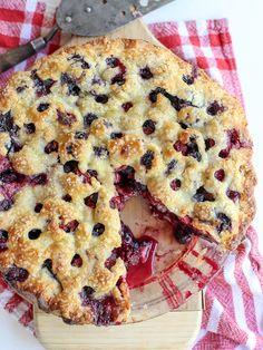 Four Berry Pie //  strawberries, raspberries, blackberries and blueberries via Foodie Crush #summer #classic