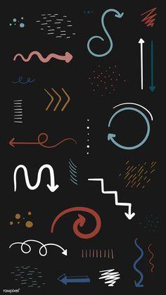 Earth tone arrow doodle vector collection | premium image by rawpixel.com / sasi Instagram Emoji, Iphone Instagram, Instagram And Snapchat, Instagram Blog, Creative Instagram Stories, Instagram Story Ideas, Arrow Doodle, Doodle Background, Snapchat Stickers