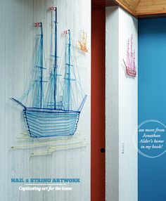 Commissioned nautical string art by Dan Balgley for Jonathan Adler's home in Shelter Island | Bright Bazaar book by Will Taylor