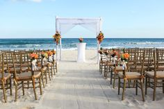 Pretty beach ceremony set-up at the @Valentin Imperial Maya All-Inclusive in the Riviera Maya. Mexico wedding photographers Del Sol Photography