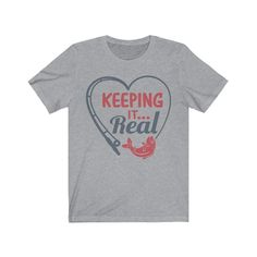 Keeping It Real | Father's Day | Unisex Jersey Short Sleeve Tee - Athletic Heather / L