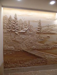Wall Art, Clay Wall Art, Mural Art, Plaster Sculpture, Mural Wall Art, Carved Wood Sculpture, Cement Art, Plaster Wall Art, Art Wallpaper