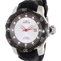 Invicta Men's 19308 Venom Automatic 3 Hand Gunmetal, Antique Silver Dial Watch, Black - Brought to you by Avarsha.com