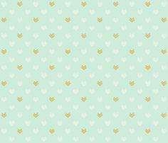 mint_chevrons fabric by lolaandstella on Spoonflower - custom fabric