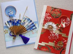 Washi paper cards - re-Pinned by HankoDesigns.Com