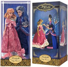 Designer Cinderella & Lady Tremaine ~ Cinderella Disney Store Limited Edition doll set 9/6/16