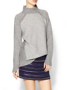 Feelin' Grey The Pull: Mock Neck Sweater, Rebecca Taylor