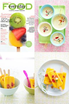 Simply beautiful. Pastels make me happy, frozen fruit = clean and fresh eating.