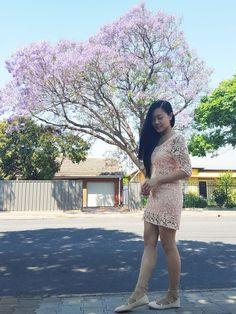 Change, a Peach Lace Dress, and Jacaranda Trees
