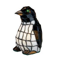 Meyda Tiffany 18470 Penguin Tiffany Glass Accent Lamp