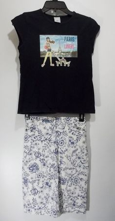 Mary-Kate and Ashley Size 10 White & Blue Denim Straight Skirt + Old Navy Tee #MaryKateAshley #Everyday