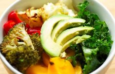 Buddha Bowl- I love the idea of layering grains, veggies all in one bowl then topping it off with a sauce.