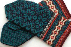 Leafy mittens