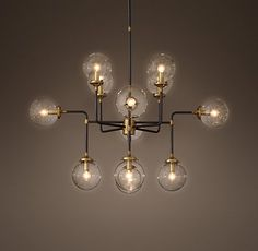 Rh S Bistro Globe Chandelier Collection Ceiling Lights Lighting Chandeliers
