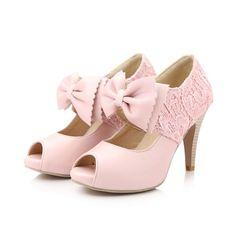 Sweet bow fish head high heels 8178WS