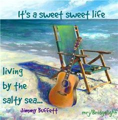 It's a sweet sweet life living by the salty sea. #guitar #ocean