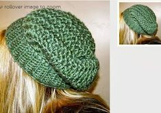 Try this free crochet slouchie hat pattern to make for gifts.