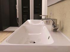 Umywalka konglomeratowa/acrylic washbasin Duo. #elita #meble #lazienka #kwadro #bathroom #furniture