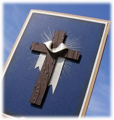 Gorgeous Baptism Card - with cross - perfect for the Adult getting Baptized Confirmation Cards, Baptism Cards, First Communion Cards, Christian Crafts, Scrapbook Cards, Scrapbooking, Flower Cards, Xmas Cards, Greeting Cards Handmade