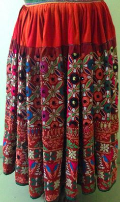 Traditional Hand embroidered Vintage banjara skirt gypsy tribal authentic beautiful banjara embroidery on Etsy, US$ 169.00