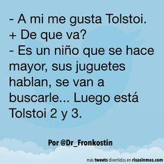 A mi me gusta Tolstoi #compartirvideos #videowatsapp #imagenesdivertidas