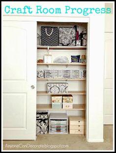 Anyone Can Decorate: Craft Room Overhaul - Sneak Peek...  See it on YouTube:  http://youtu.be/yDS2rhfjgsI