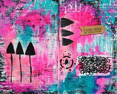 Mary C. Nasser, Mixed Media Art Journal using StencilGirl stencils. ♡♡