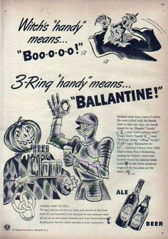 Ballantine Ale Halloween ad (1943)