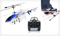 $49 for a Hercules Unbreakable RC Helicopter in Blue, Red, or Silver ($125 List Price). Free Shipping and Returns. - Groupon