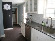 This site has pictures of paint in real rooms, as well as beautiful, lived-in spaces that inspire home projects! I love the idea of a kitchen chalk-board wall with a monogram!