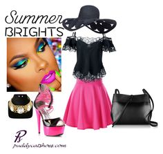 """""""Adore summer brights"""" by puddycatshoes ❤ liked on Polyvore featuring Givenchy, Kara and summerbrights"""