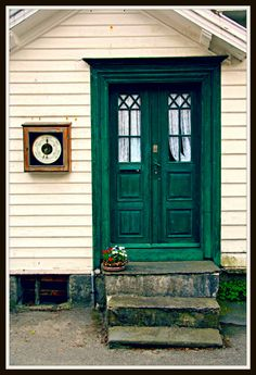 This photo from Rogaland, South is titled 'Skudeneshavn'. Village Houses, Old Doors, Fishing Boats, Finland, Gates, Denmark, Norway, Europe, Community