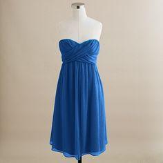 Taryn dress in silk chiffon - matisse blue - bridesmaids?