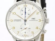 Polished #IWC Portuguese Chronograph Steel Automatic Watch IW371401 3714 BF106356: #eLADY global accepts returns within 14 days, no matter what the reason! For more pre-owned luxury brand items, visit http://global.elady.com