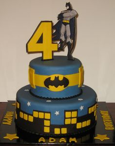 Let Them Eat Cake: Two Tier Batman cake