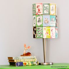 DIY Upcycled Vintage Playing Card Lampshade