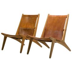 """Pair of """"Hunting Chair"""" model 204 by Uno & Osten Kristiansson Sunroom Furniture, Unique Furniture, Furniture Decor, Outdoor Chairs, Dining Chairs, Lounge Chairs, Living Room Lounge, Modern Chairs, Modern Lounge"""
