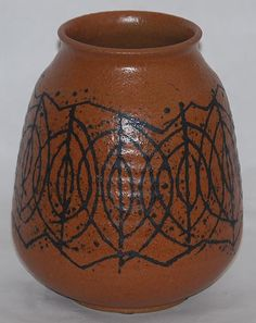 Clyde Burt Mid-Century Modern Pottery Vase For Sale | Antiques.com ...