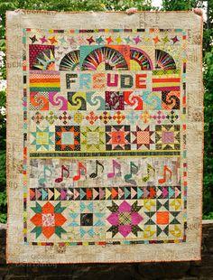 Huntspatch Quilts: Ode to Joy  *Great Sampler Idea