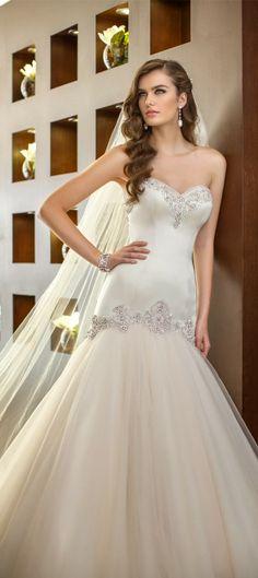 Memorable skirt ~ Essense of Australia Fall 2014 #wedding #dress   bellethemagazine.com