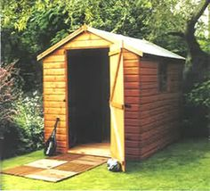 very basic shed