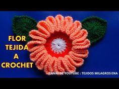 Flor # 9 tejida a gancho fácil y rápido para tejer paso a paso en video tutorial - YouTube