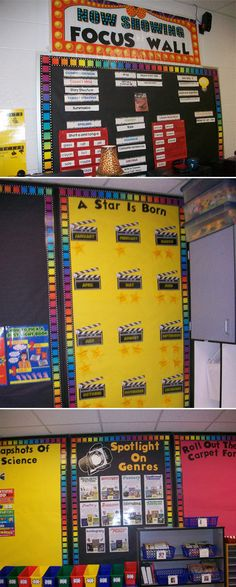 "I wanna find a ""rock star"" version of this...  Employ a theme, like this clever Hollywood classroom motif. 
