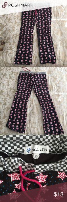 Full Tilt Pajama Pant Stars and Hearts Sz XL Full Tilt Pajama Pant Black with Stars and Hearts Sz XL Great Condition! Comfortable and Cute! Full Tilt Intimates & Sleepwear Pajamas