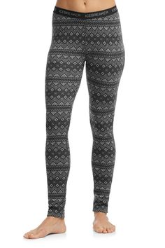 Icebreaker`s midweight Women`s Vertex Leggings are made for active sports in cold weather. Using their soft, warm 260gm merino jersey fabric, they`re built for movement, using a gusset for mobility and soft, brushed waistband. The fabric is warm yet breathable, and resists odor naturally, so the Vertex Leggings are great as a cold weather running tight or skiing baselayer, and you can wear them several times between washing.   Features: Gusset for comfort and wide range of movement…