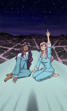 Look how the real stars shine by astra3000.deviantart.com on @DeviantArt Revolutionary Girl Utena, Girls Series, Anime Animals, Animated Cartoons, Revolutionaries, Anime Shows, Magical Girl, Anime Love, Shoujo