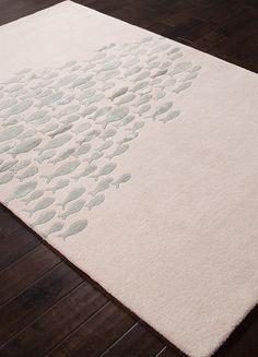 Ivory Go Fish Wool Area Rug