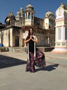 Karin at model shoot in Rajasthan, India.